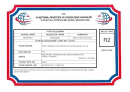 R2 – CERTIFICAT D'AUTORISATION DE TRANSPORT INTERNATIONAL DES MARCHANDISES