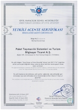 CIVIL AVIATION AUTHORIZED AGENT CERTIFICATE
